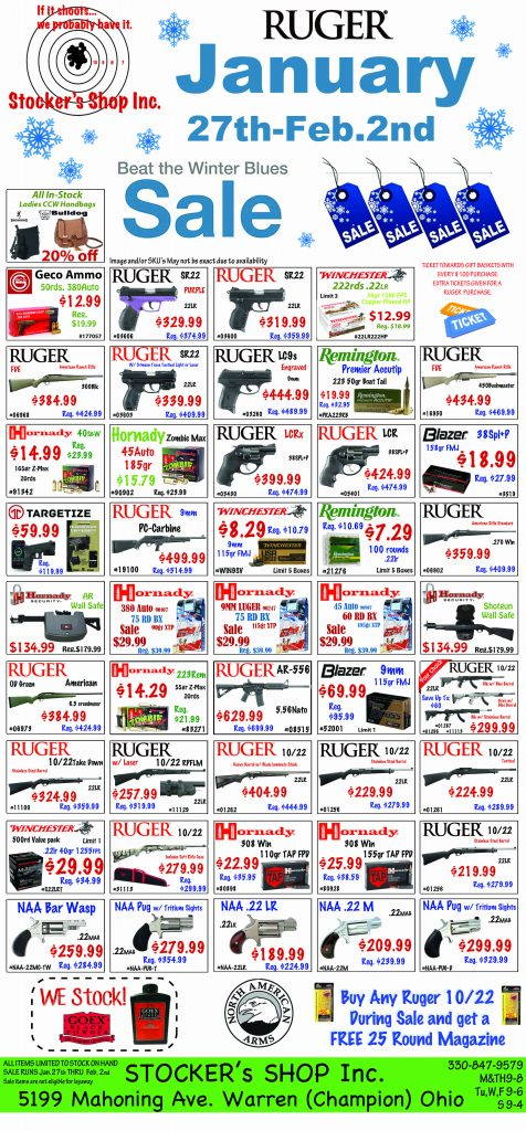 Ruger Sale January 27th - Feb 2nd